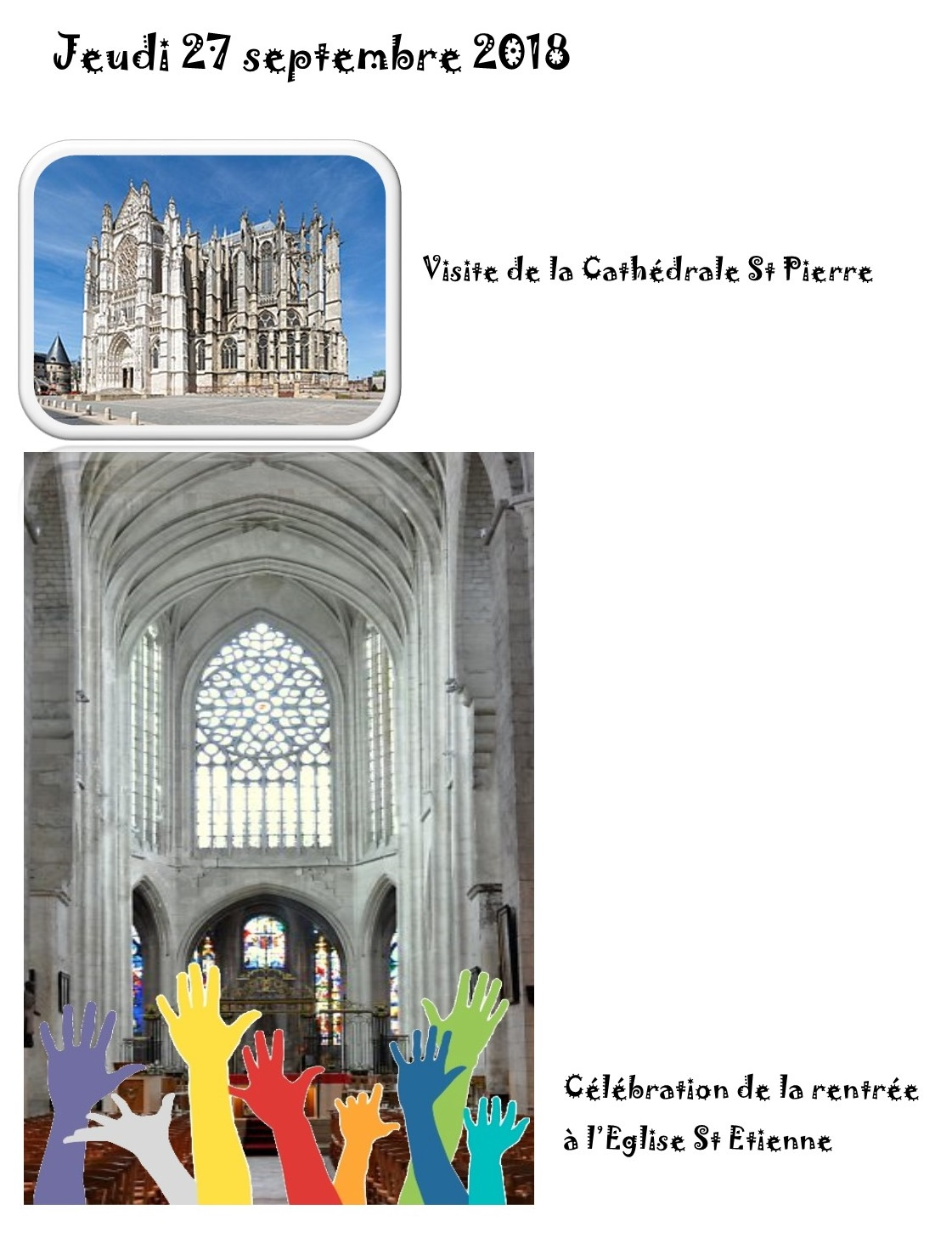 27 09 2018 VISITE CATHEDRALE ET CELEBRATION RENTREE SCOLAIRE 2018