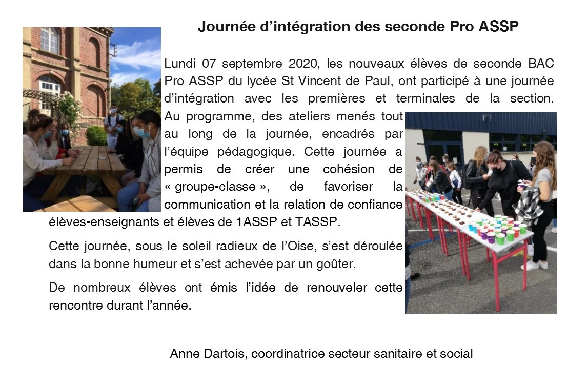 JOURNEE D INTEGRATION DES SDE ASSP 07 09 2020