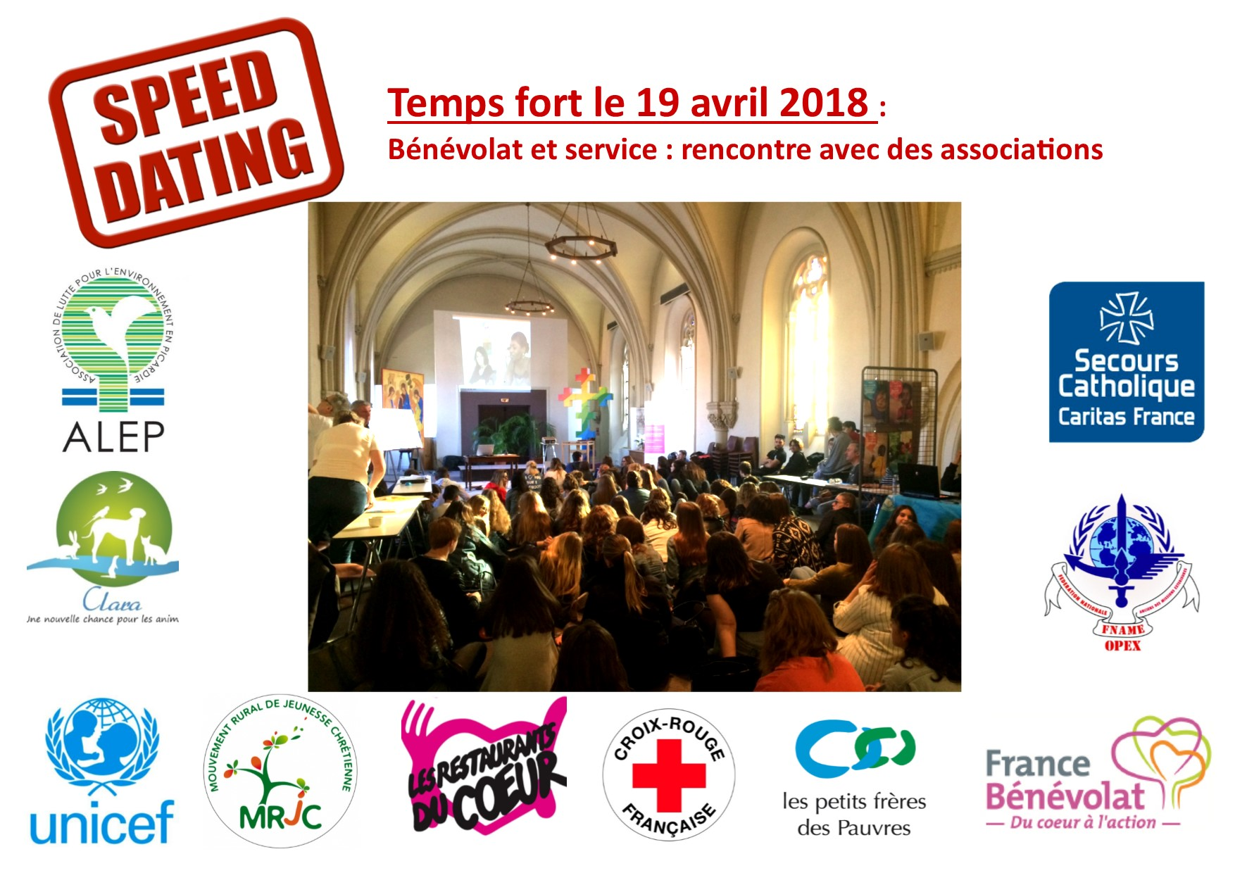 TEMPS FORT 19 AVRIL 2018 SPEED DATING ASSOCIATIF